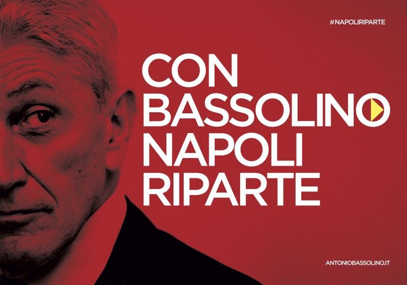 Manifesti Bassolino - 100x140 (orizzontale) Napoli riparte