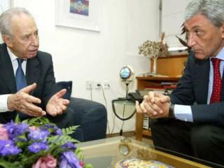 Bassolino e Shimon Peres