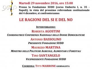 Fondazione SUDD - Iniziativa referendum